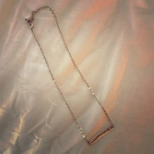 Plain gold bar necklace